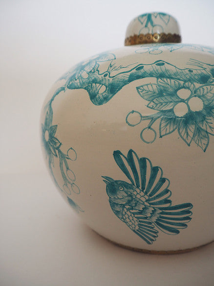 Vintage Bird in Turquoise by Bowerbird