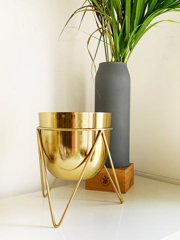 Black/Gold Planter by Shiva Designs Bespoke