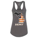 Michigan HUNT Orange American Flag - Women's Fit