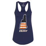 New Hampshire HUNT Orange American Flag - Women's Fit