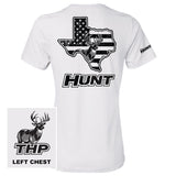 Texas Buck HUNT Black American Flag - Women's Fit