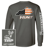Kentucky HUNT Orange American Flag