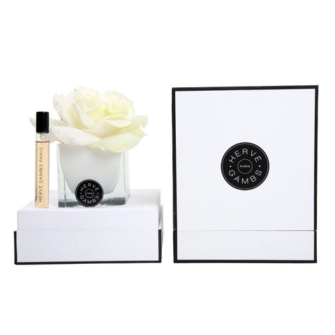 Herve Gambs Rose Gift Set White