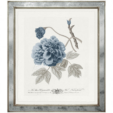 Imperial Flowers Blue & Grey- Print 5