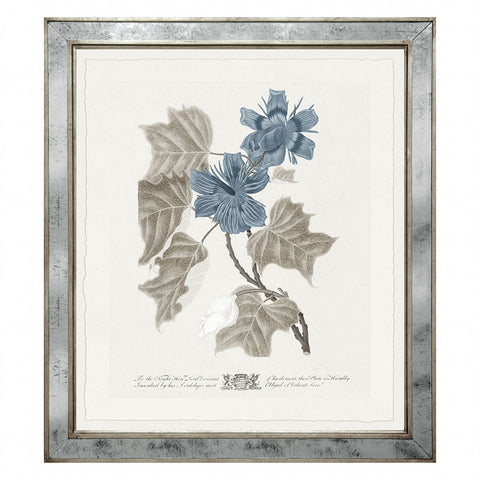 Imperial Flowers Blue & Grey- Print 7