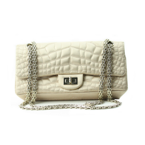 Chanel Croc Stitched Handbag