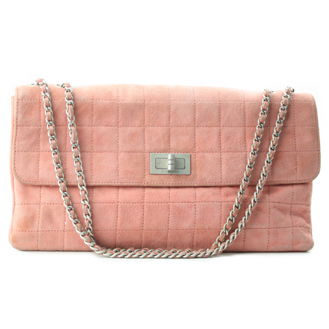 Chanel Quilted Suede Handbag