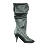 Chanel Tall Black Leather Boots