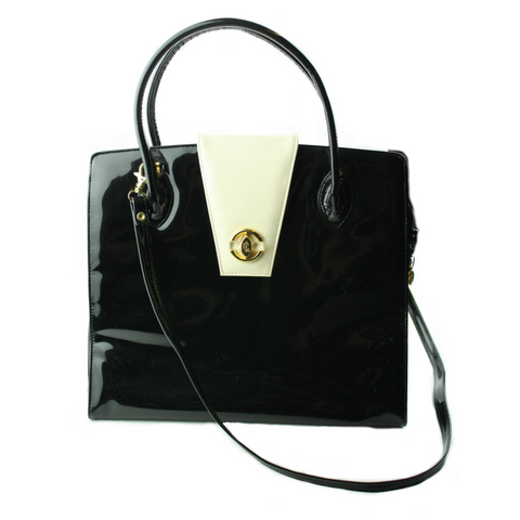 Claude Gerard Patent Leather Handbag