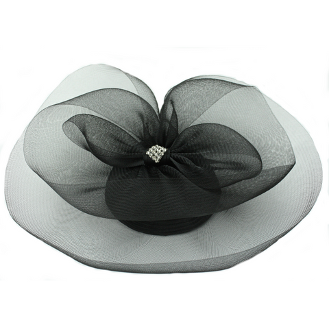 French Couture Black Silk Tilt Top Hat