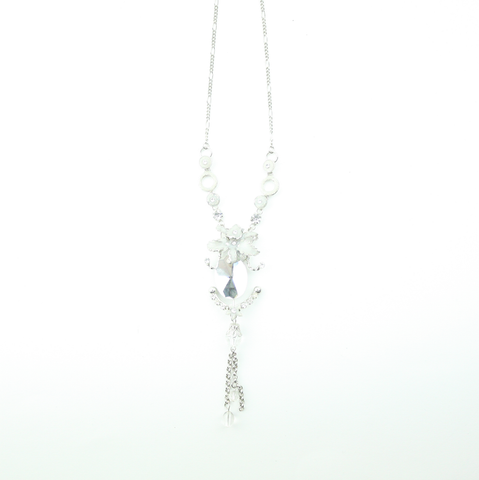 Enamel Crystal Necklace