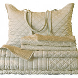 Ivory/Ecru Quilted Coverlet Set