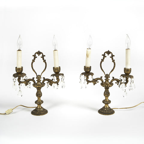 Pair of Electrified Candelabras