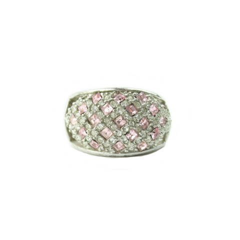 Pink & White Basket Ring