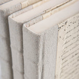 Recylced Canvas-Gray Books-set of 3