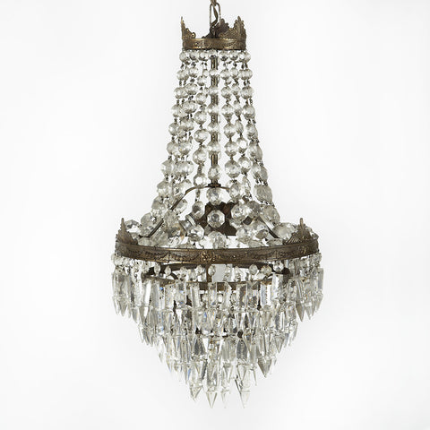 Small French Crystal Chandelier