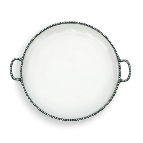 Arte Italica Round Platter with Handles
