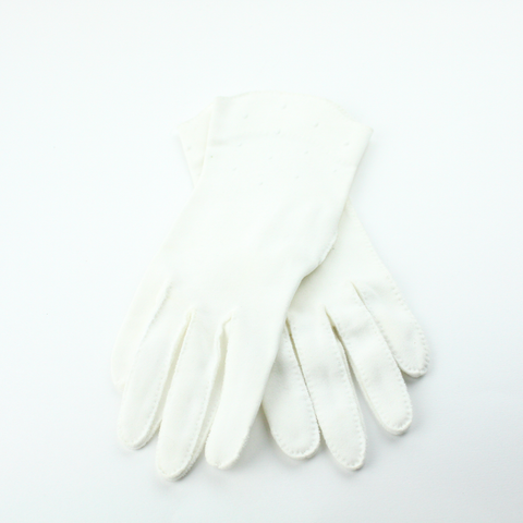 Vintage French White Gloves