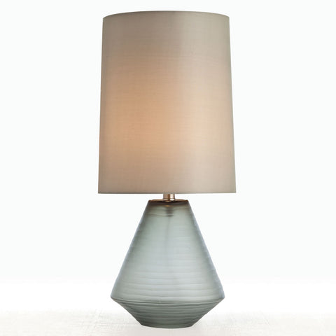 Gray Etched Glass Lamp