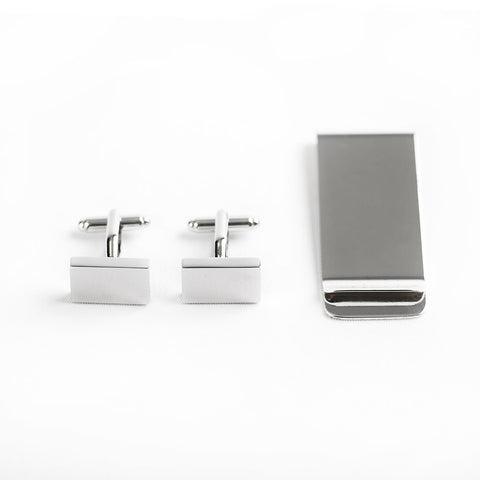 Money Clip & Cufflink Set