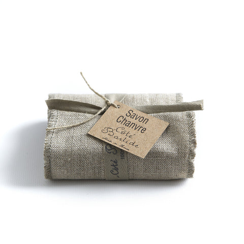 Cote Bastide Linen-wrapped Soap