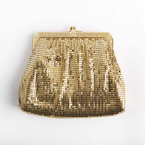 Vintage Whiting & Davis Gold Mesh Evening Bag