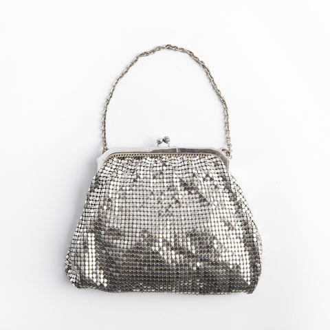 Vintage Whiting & Davis Mesh Wedding Bag, 1930s