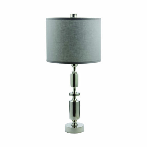 Silver Barbell Lamp