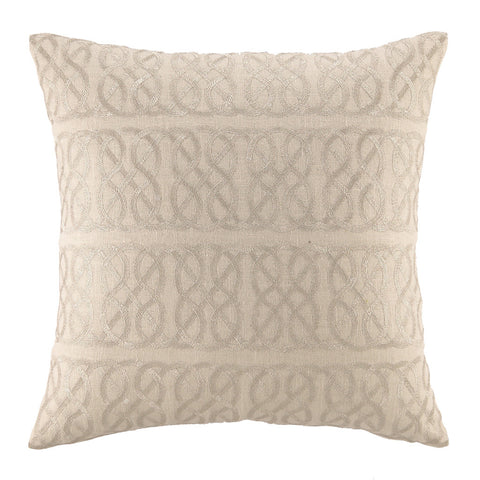 Nautical Knot Pillow Metallic Silver