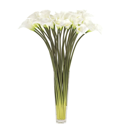 Calla Lily White in Glass Square