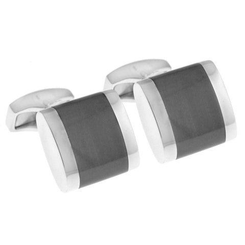 Square Cufflinks Grey