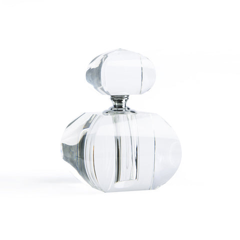 Modern Morocco Glass Perfume Bottle- curved square