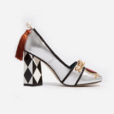 Mary Jane Pump - Silver