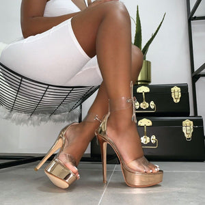 Karene Heels - Gold ; Black