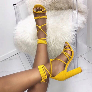 Bethany Heels - Yellow ; Black
