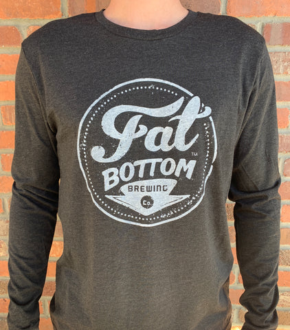 Charcoal FB Long Sleeve Logo Shirt