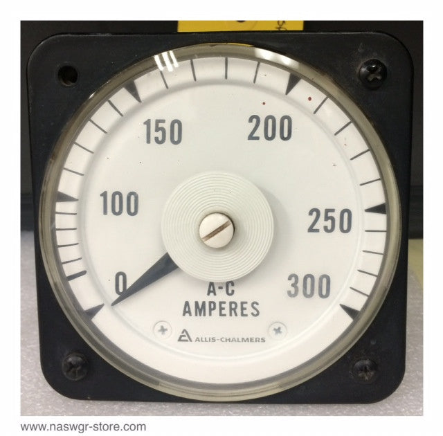 50-103131-LSRX2AAG ~ GE 50-103131-LSRX2AAG AC Ammeter ~ 0-300 Amp Dial
