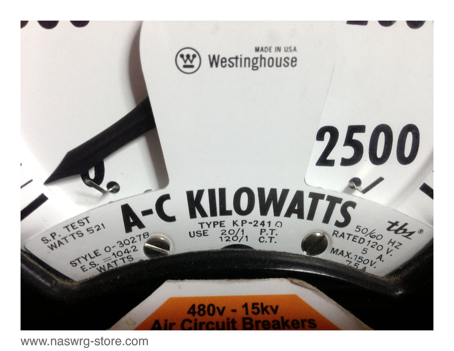Westinghouse 0-30278 A-C Kilowatts Meter