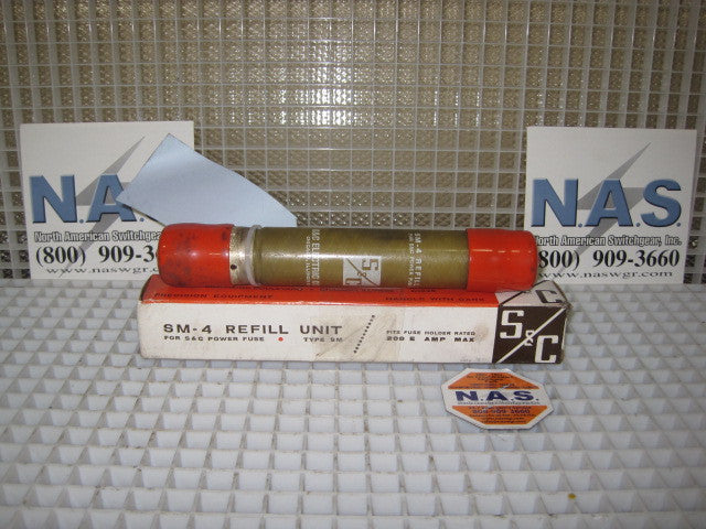122275R4 ~ S&C SM-4 Fuse Refill Unit TCC153-4 175E 14.4kV *Unused Surplus* ~ PN: 122275R4