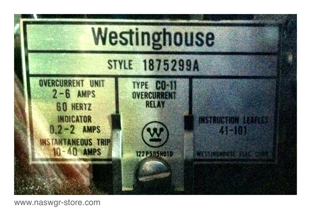 1875299A ~ CO-11 Westinghouse Overcurrent Relay