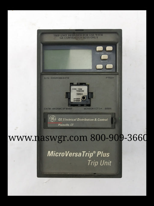 General Electric AK050CF0802 MicroVersaTrip Plus Solid State Device