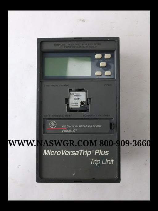 General Electric AKO25C3F0607 MicroVersaTrip Plus Trip Unit