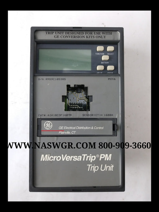 General Electric AIK1BC3F1607M MicroVersaTrip Trip Unit