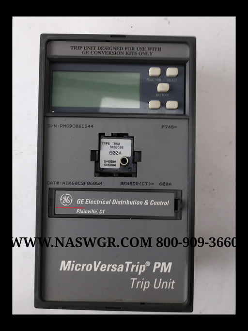 General Electric AIK60C3F0605M MicroVersaTrip Trip Unit