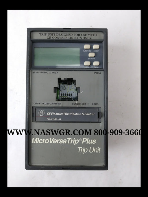 General Electric AK025C3F0602 MicroVersaTrip Plus Trip Unit