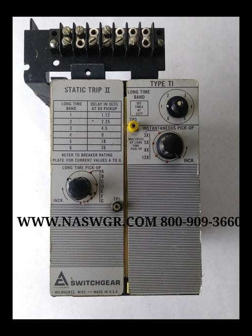 Siemens Allis 18-468-194-501 Or 18-657-393-501 Trip Unit Type T1