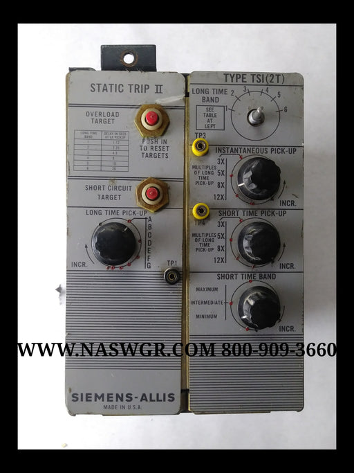 Siemens Allis 18-471-112-517 Trip Unit Type TSI (2T)