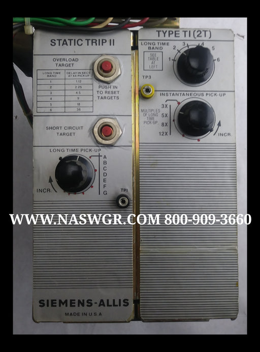 Siemens Allis 18-471-112-515 Or 18-734-167-515 Trip Unit Type TI (2T)