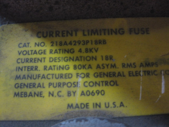 218A4293P18RB ~ GE 218A4293P18RB  Double Barrel Fuse 18R 5kV