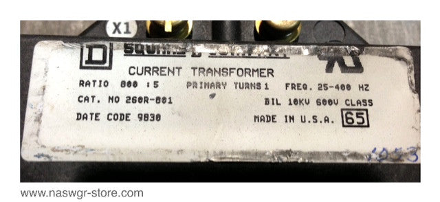 260R-801 ~ Square D 260R-801 Current Transformer